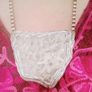 Authentic Adina Mills Stilbite Pendant